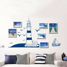 DIY Lighthouse At the Beach Seaside Bedroom Home Removable Art Decal Wallsticker