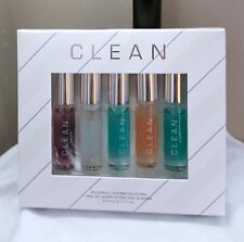 CLEAN ROLLERBALL LAYERING COLLECTION SKIN AIR WARM COTTON RAIN BLOSSOM SET NIB