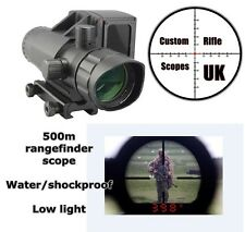Rifle scope ranger finder 4x32 500m range use on a rifle or crossbow !