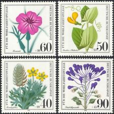 Germany 1980 Relief Fund/Wild Flowers/Plants/Nature/Welfare 4v set (n28120)