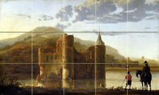 Landscape Castle Aelbert Cuyp Tumbled Marble Mural Backsplash Bath Tile #2239