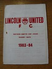 12/11/1983 Lincoln United v Borrowash Victoria  (Creased, Rusty Staple Mark)