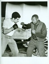 ARCHIE MOORE BOXER FIGHT STANCE ON SET OF WAGON TRAIN ORIGINAL 1963 ABC TV PHOTO