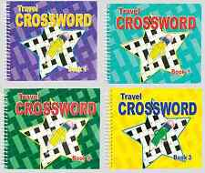 SET 4 x CROSSWORD POCKET PUZZLE ADULT BOOKS SPIRAL BOUND 192 PAGES EACH NEW 3115