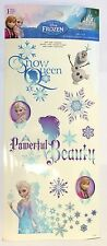 9 Disney Princess Frozen Wall Stickers Repostionable Decals Room Elsa Anna Olaf