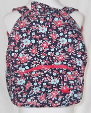New Hollister Floral Backpack Book Bag Blue Red Tote NWT