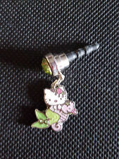 Hello Kitty Mermaid on her Sea Horse Cell Phone Strap Plug charm Fits most