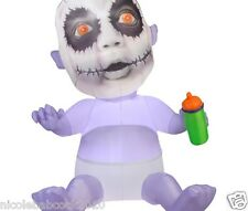 "GEMMY 65"" HALLOWEEN CREEPY ZOMBIE BABY ANIMATED AIRBLOWN INFLATABLE YARD DECOR"