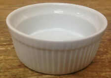 """Bia Cordon Bleu Souffle Incised Round White Bakeware Chef 4.5"""" Incised Signature"""