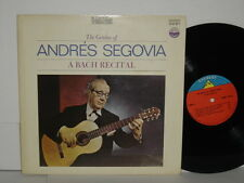 ANDRES SEGOVIA The Genius of LP A Bach Recital Everest 3261 Plays Well