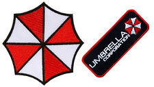 Resident Evil Umbrella Corporation Both Logo & Badge embroidery Iron on Patches