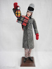"""Simpich Character Dolls Christmas Caroler Lantern Man 14"""" Early 1980s Chips"""