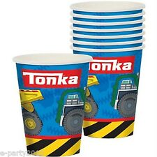 TONKA 9oz PAPER CUPS (8) ~ Birthday Party Supplies Construction Beverage Drink