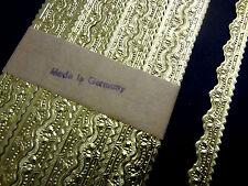 """VTG 20s 30s GERMAN DRESDEN Foil Paper Gold Border EIGHT 21"""" Strips VERY DETAILED"""