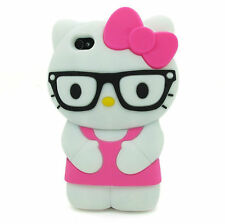 For IPhone 6  6S PLUS 5.5 3D Hello Kitty Glasses Soft Silicone Case Cover - HOP