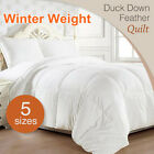 ALL SIZE 50/50 White Duck Down Feather Winter Weight Quilt/Duvet/Blanket