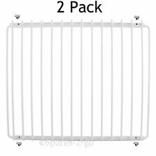 2 X White Fridge Shelf for Swan Refrigerator Plastic Coated Extendable Rack