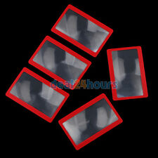 Pack of 5 3X Credit Card Size Wallet Pocket Plastic Magnifier Magnifying Glass