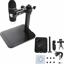 200X USB 8 LED Digital DSP Microscope Endoscope Magnifier Camera+Lift Stand Kit