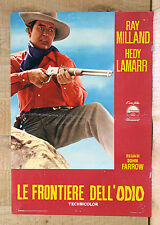 LE FRONTIERE DELL'ODIO fotobusta poster lobby card Ray Milland Western