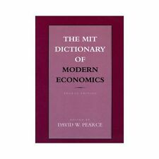 The MIT Dictionary of Modern Economics: 4th Edition-ExLibrary