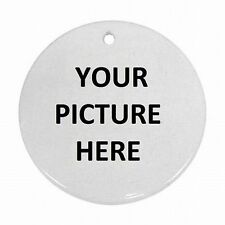 Christmas Tree Porcelain Ornament Custom Personalized YOUR PICTURE PHOTO LOGO
