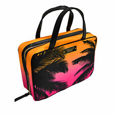 Victoria's Secret Travel Bag Toiletries Case Make Up Cosmetics Ombre Palms New