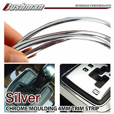 1M Car Styling Moulding Trim Strips Control Center Air Vent Wheel Rim Silver 4mm