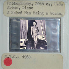 "Diane Arbus ""A naked man being a woman"" 1968 Photo 35mm art slide"