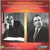 Sonata for Viola/trio/quintet (The Budapest String Quartet) CD NEW