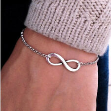 New Fashion Sliver Punk Metal Infinite Infinity Sign Bracelets Hot Saling