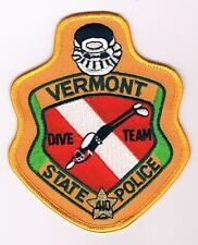 USA VERMONT STATE POLICE DIVE UNIT POLICIA