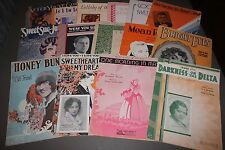 Lot 15 Pieces Vintage Sheet Music Honey Bunch Bright Eyes Trees Sweet Sue & More