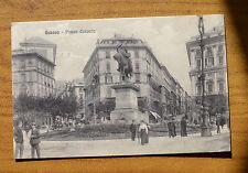 CARTOLINA GENOVA PIAZZA CORVETTO VIAGGIATA 1914 SUBALPINA HH
