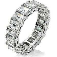 6.00 Ct. Emerald Cut Diamond Eternity Engagement Ring