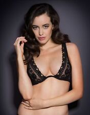 Agent Provocateur STEVIE BRA in BLACK FRENCH LACE & GOLD EYELETS - 32D - BNWT