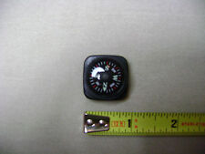 Glow in the Dark Black White and Red Compass for 20mm Watchband or Paracord (NEW