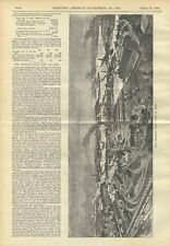 1898 Kiel Canal Russia Imperial Navy Yard Illustrated Old Article Scientific Am