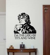 Tyrion Lannister Quote Wall Decal Game Of Thrones Vinyl Sticker Decor Art 79quo