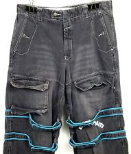 Marithe Francois Girbaud Mens Jeans Size 34 x 32 NYC Paris Graphic Charcoal