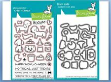 Lawn Fawn Photopolymer Clear Stamp & Die Combo ~ HAPPY HOWLOWEEN  ~LF1206,1207