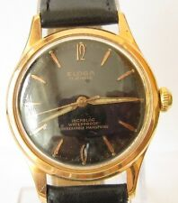 VINTAGE *ELOGA*17 JEWELS,INCABLOC,GOLD PLATED SWISS MEN'S WATCH,SERVICED / 784
