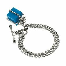 JUICY COUTURE Present Charm Multi strand Toggle silver blue Bracelet NEW IN BOX