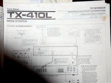 doc pionner TUNER TX 410 avec diagramme schema francais allemand