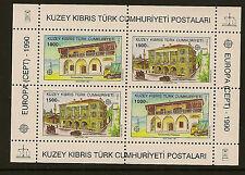 Turca de Chipre: 1990 Europa Miniatura Hoja Sg Ms 277 Menta desmontado