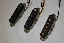 RH Factor Jimi's Set Stratocaster Style Pickups Alnico 5 V Black Covers!