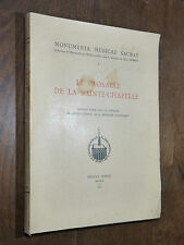 LE PROSAIRE DE LA SAINTE-CHAPELLE Manuscrit de Saint-Nicolas de Bari 1952 Protat
