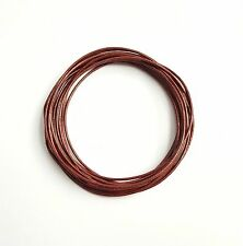 Genuine Round Leather Cord Tamba 1mm 10 meters Section