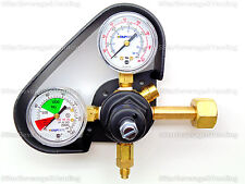 NEW TAPRITE HIGH PRESSURE DUAL GAUGE CO2 REGULATOR WITH GAUGE PROTECTOR 0-160PSI
