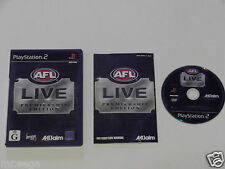 AFL LIVE PREMIERSHIP for PLAYSTATION 2 'VERY RARE & HARD TO FIND'